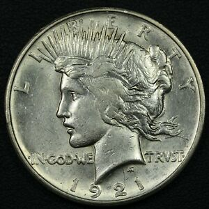 1921 HIGH RELIEF PEACE SILVER DOLLAR