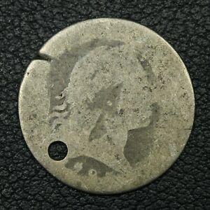 1795 FLOWING HAIR SILVER HALF DIME   HOLED & DAMAGED