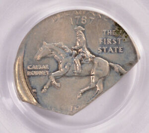 Click now to see the BUY IT NOW Price! PCGS 25C 1999 D DELAWARE QUARTER CORNER CLIP AU55