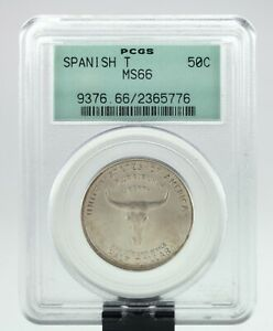 1935 SPANISH TRAIL 50C COMMEMORATIVE GRADED BY PCGS AS MS 66  OLD HOLDER
