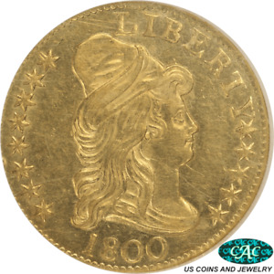 1800 CAPPED  BUST RIGHT $5 GOLD HALF EAGLE NGC MS 61 CAC   LY NICE COIN