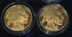 2 2006 GOLD BUFFALO PROOFS 24 KT. W/ ORIG PACKAGING & CERTS AVAIL