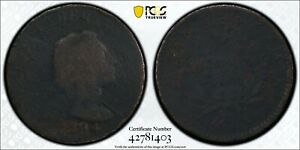 1794 HEAD OF 1793 S 20B LIBERTY CAP COPPER LARGE CENT PCGS P/FR DETAIL   TOOLED
