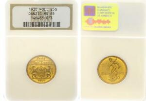 Click now to see the BUY IT NOW Price! DANZIG 25 FLORINS 1930 OR   FREIE VILLE NGC MS 65   PICE DE MONNAIE 64983