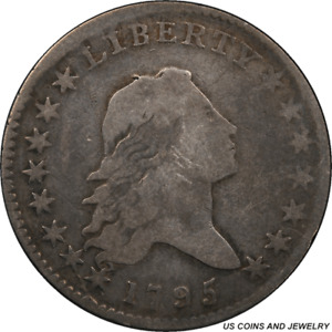 1795 FLOWING HAIR HALF DOLLAR PCGS GENUINE GREAT EARLY US COIN