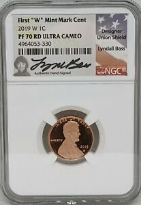 2019 W NGC PF70 ULTRA CAMEO LINCOLN SHIELD CENT   WEST POINT MINT   LYNDALL BASS