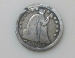1853 WITH ARROWS SEATED LIBERTY SILVER HALF DIME