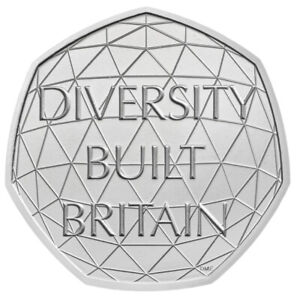 2020 DIVERSITY BUILT BRITAIN 50P COINS FIFTY PENCE FROM A SEALED BAG