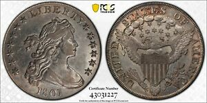 1801 DOLLAR DRAPED BUST $1 PCGS GENUINE CLEANED   AU DETAILS