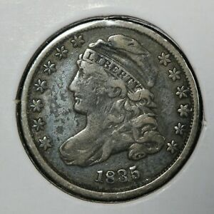 1835 CAPPED BUST SILVER DIME