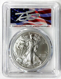THOMAS CLEVELAND SIGNED 2021  S  TYPE 1 EMERGENCY REL FIRST STRIKE  PCGS MS70