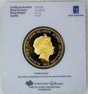 Click now to see the BUY IT NOW Price! 2018 PAMP 1.5 OZ .9999 GOLD PGA OFFICIAL LICENSED THE PLAYERS ULTRA LOW 000028