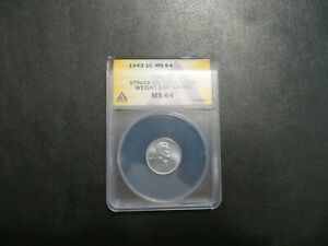 1943 OVERWEIGHT LINCOLN STEEL PENNY 3.00 GRAMS MINT ERROR
