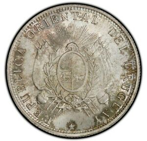 Click now to see the BUY IT NOW Price! URUGUAY 1894 50 CENTECIMOS PCGS MS67  RICHLY TONED GEM