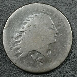 1793 WREATH FLOWING HAIR COPPER LARGE CENT