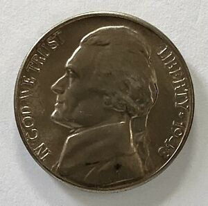 1948 D JEFFERSON NICKEL 5 REPUNCHED MINTMARK ERROR UNCIRCULATED COIN   3477