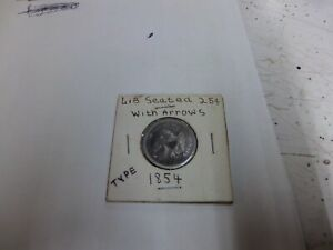 1854 SEATED LIBERTY QUARTER DOLLAR WITH ARROWS