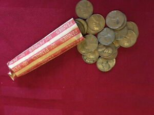 LINCOLN CENTS 1944P  1 ROLL GOOD TO EXTRA FINE