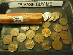 1966 P LINCOLN CENT ROLL        >> S & H   C/S <<