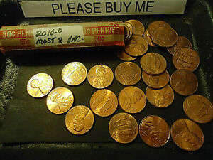 2010 D ROLL OF LINCOLN CENTS      MOST ARE UNC.      >>C/S & H AVAILABLE<<