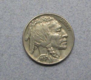 1937 BUFFALO NICKEL WITH CHOICE FINE DETAILS