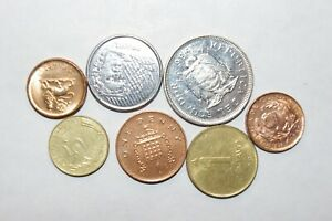 1986 1 SUCRE ECUADOR OTHER GREAT WORLD COINS 7 UNC OR HIGH GRADE VALUE COINS C15