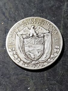 Click now to see the BUY IT NOW Price! 1930 PANAMA SILVER 1/4 BALBOA KM 11.1 FOREIGN SILVER COIN
