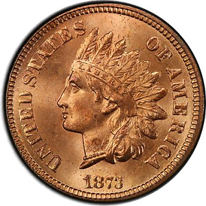Click now to see the BUY IT NOW Price! 1873 1C OPEN 3 INDIAN CENT   TYPE 3 BRONZE PCGS MS66 RD 3328 1 POP 1