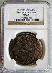 Click now to see the BUY IT NOW Price! 1629 ITALY SCUDO PLACENZA DAV 4128 NGC XF45