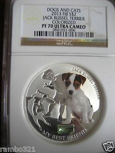 Click now to see the BUY IT NOW Price! FIJI 2013 JACK RUSSEL TERRIER NGC PR70 ULTRA CAMEO SILVER COIN 1 TROY OZ BULLION
