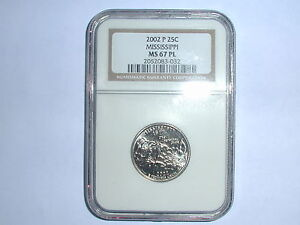 Click now to see the BUY IT NOW Price! 2002 P 25C MISSISSIPPI STATE QUARTER NGC MS 67 PL
