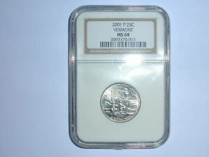 Click now to see the BUY IT NOW Price! 2001 P 25C VERMONT STATE QUARTER NGC MS 68