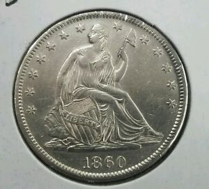 Click now to see the BUY IT NOW Price! 1860 S SEATED HALF DOLLAR