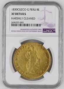 Click now to see the BUY IT NOW Price! PERU 1830 CUZCO  8 ESCUDOS NGC XF