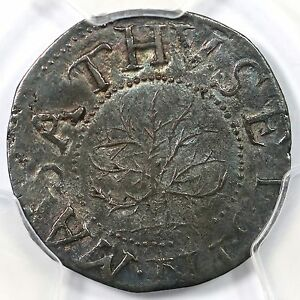 Click now to see the BUY IT NOW Price! 1652 N 5 R 2 PCGS AU 53 OAK TREE SHILLING COLONIAL COIN