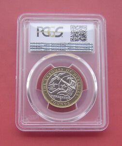 Click now to see the BUY IT NOW Price! GIBRALTAR 1999AA THE STYMPHALIAN BIRDS 2 POUNDS BIMETALLIC COIN PCGS MS63