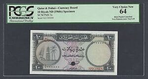 Click now to see the BUY IT NOW Price! QATAR & DUBAI 10 RIYALS ND 1960  P3S SPECIMEN UNCIRCULATED
