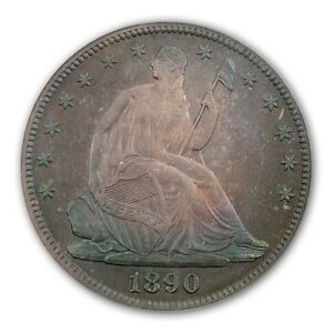 1890 50C LIBERTY SEATED HALF DOLLAR PCGS PR67  NORWEB