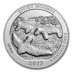 2017 5 OZ SILVER AMERICA THE BEAUTIFUL ATB EFFIGY MOUNDS NATIONAL MONUMENT IA