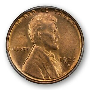Click now to see the BUY IT NOW Price! 1925 D 1C LINCOLN CENT   TYPE 1 WHEAT REVERSE PCGS MS65 RD PQ POP 3  CAC  2590