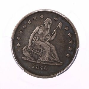 1840 O SEATED LIBERTY 25C PCGS CERTIFIED VF30 NEW ORLEANS MINT SILVER QUARTER