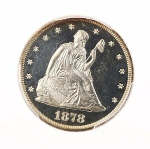 Click now to see the BUY IT NOW Price! 1878 SEATED 20C PCGS CERTIFIED PR63CAM CAMEO SILVER US TWENTY CENT PIECE COIN PQ