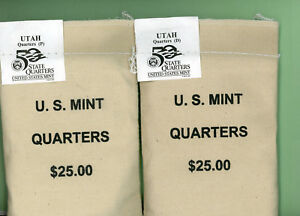 Click now to see the BUY IT NOW Price! UTAH STATE QUARTERS 2  100 COIN MINT PACKED BAGS D AND P MINT 2007