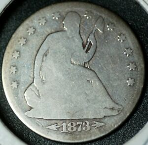 1873 CC SEATED HALF DOLLAR IN GOOD CONDITION. VARIETY WB 103.
