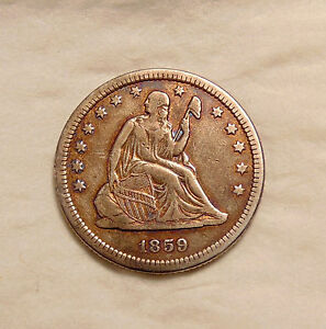 1859 O LIBERTY SEATED QUARTER   BETTER DATE   NICE LOOKING COIN