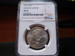 Click now to see the BUY IT NOW Price! 1918 MS67 LINCOLN SILVER COMMEMORATIVE NGC CERTIFIED SUPERB GEM   EXCEPTIONAL
