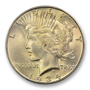 Click now to see the BUY IT NOW Price! 1934 S $1 PEACE DOLLAR PCGS MS65   CAC