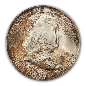 Click now to see the BUY IT NOW Price! 1949 D 50C FRANKLIN HALF DOLLAR PCGS MS66 FBL  CAC