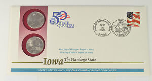 REDUCED 4 CHRISTMAS   2004 IOWA STATE QUARTER Q38 FIRST DAY COVER BEST PRICE