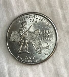 2000 MASSACHUSETTS ERROR QUARTER MINTED IN PHILADELPHIA UN CIRCULATED